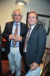 Left to right, Prof. Fritz Vollrath and LORD DALMENY at a reception in aid of Save The Elephants held at Patrick Mavros, 104-106 Fulham Road, Lodon SW3 on 23rd September 2009.
