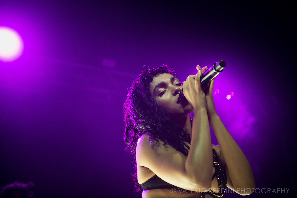 FKA Twigs live on stage at Field Day 2015 in Victoria Park, London