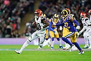 Cincinnati Bengals Wide receiver Auden Tate (19) in action during the International Series match between Los Angeles Rams and Cincinnati Bengals at Wembley Stadium, London, England on 27 October 2019.