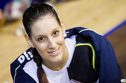 Alja Koren during practice session of Slovenian Women handball National Team three days before match against Serbia, on October 24, 2013 in Arena Tivoli, Ljubljana, Slovenia. (Photo by Vid Ponikvar / Sportida)