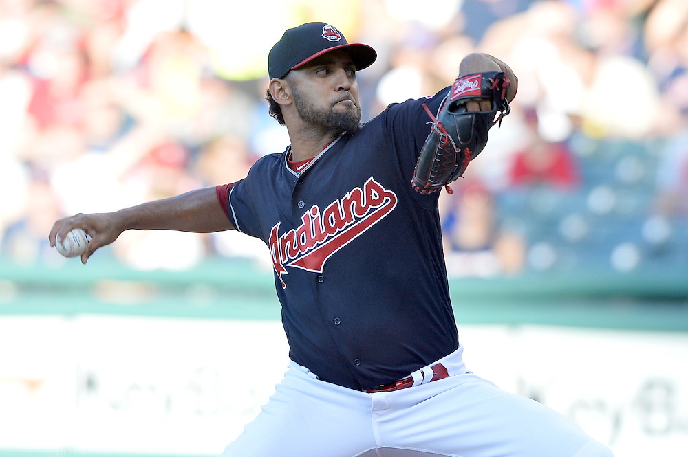 Aug 1, 2016; Cleveland, OH, USA; Cleveland Indians starting pitcher Danny Salazar (31) throws a pitch during the first inning against the Minnesota Twins at Progressive Field. Mandatory Credit: Ken Blaze-USA TODAY Sports