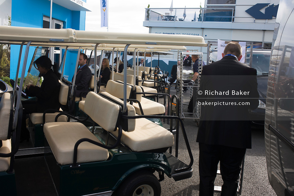 Buggy drivers at the Farnborough Airshow.