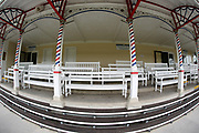 The old Gimcrack Stand prior to the third day of the Dante Festival at York Racecourse, York, United Kingdom on 17 May 2019.