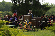 Vassar College President Catharine Bond Hill addressing graduates and families at Vassar's 2009 Commencement