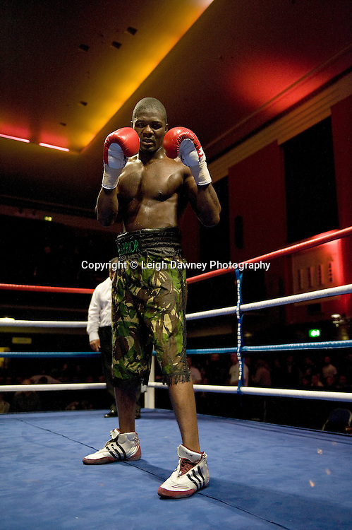 Hastings Rasani picured after defeating JJ Ojvejerie at Watford Colusseum 29 November 2009 Promoter Mickey Helliet, Hellraiser Promotions: Credit: ©Leigh Dawney Photography