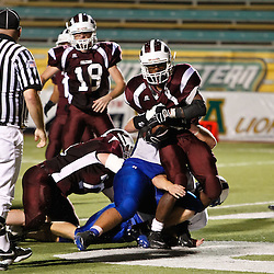 October 8, 2010:  The St. Thomas Falcons against the Springfield Bulldogs at Strawberry Stadium in Hammond, LA.