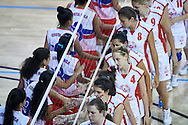 Unified Volleyball match between SO Serbia and SO USA Costa Rica during sixth day of the Special Olympics World Games Los Angeles 2015 on July 30, 2015 at Pauley Pavilion at UCLA (University of California Los Angeles) in Los Angeles, USA.<br /> <br /> USA, Los Angeles, July 30, 2015<br /> <br /> Picture also available in RAW (NEF) or TIFF format on special request.<br /> <br /> For editorial use only. Any commercial or promotional use requires permission.<br /> <br /> Adam Nurkiewicz declares that he has no rights to the image of people at the photographs of his authorship.<br /> <br /> Mandatory credit:<br /> Photo by © Adam Nurkiewicz / Mediasport