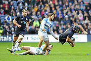 Josh Strauss on the ball during the Autumn Test match between Scotland and Argentina at Murrayfield, Edinburgh, Scotland on 24 November 2018.