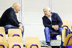 Ivo Daneu and Milan Kucan druing basketball match between KK Petrol Olimpija and KK Krka Novo mesto at Superpokal 2017, on September 28, 2017 in Hala Tivoli, Ljubljana, Slovenia. Photo by Matic Klansek Velej / Sportida.com