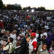 Thousands of supporters showed up during a rally for the shooting of Trayvon Martin on Thursday, March 22, 2012 at Fort Mellon Park in Sanford, Florida. (AP Photo/Alex Menendez) Trayvon Martin rally in Sanford, Florida.