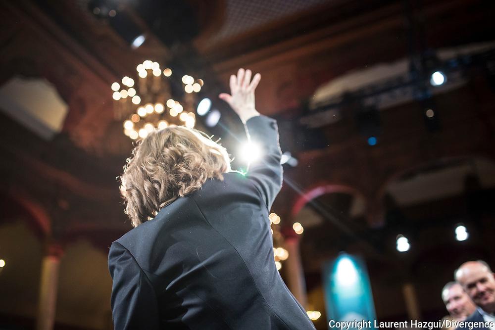 09112016. Paris. Salle Wagram. Dernier meeting de la campagne des primaires de la droite et du centre de Nathalie Kosciusko-Morizet.