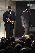 8 February -Washington, D.C: (L-R) Recording Artist/Director Ice Cube and Recording Artist/Actor Ludacris aka Chris Brian Bridges attend the BET Honors Inside 2014 held at the Warner Theater on February 8, 2014 in Washington, D.C. (Terrence Jennings)