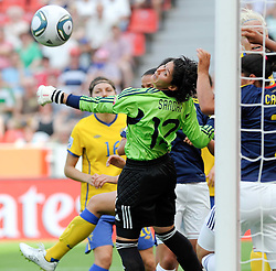 28.06.2011, BayArena, Leverkusen, GER, FIFA Women Worldcup 2011, Gruppe C, Kolumbien (COL) vs. Schweden (SWE), im Bild -Sandra SEPULVEDA ( #12 COL ) klaert..// during the FIFA Women¥s Worldcup 2011, Pool C, Colombia vs. Sweden on 2011/06/28, BayArena, Leverkusen, Germany.       ****** out of GER / CRO  / BEL ******