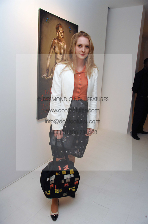 DAISY DE VILLENEUVE at an exhibition of paintings by artist Rene Richard at the Scream Gallery, Bruton Street, London on 3rd April 2008.<br />