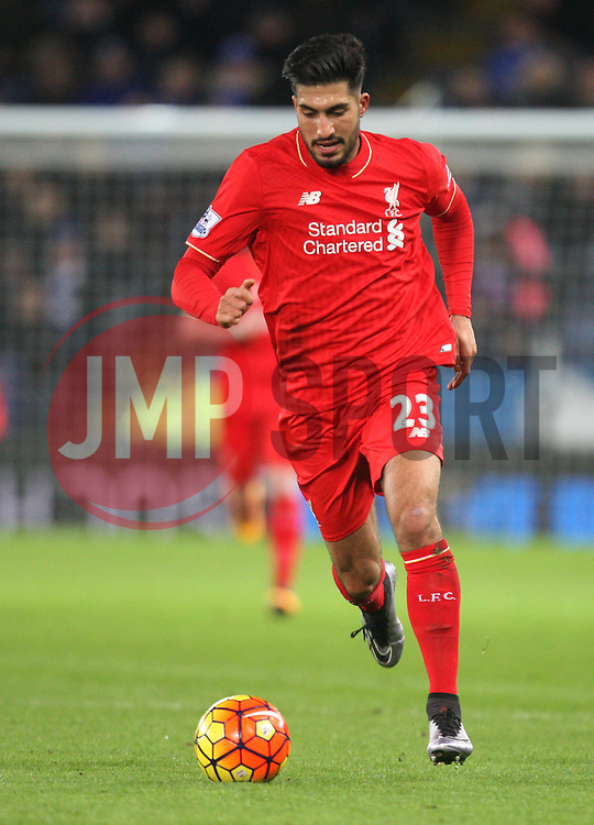 Emre Can of Liverpool in action - Mandatory byline: Jack Phillips/JMP - 02/02/2016 - FOOTBALL - King Power Stadium - Leicester, England - Leicester City v Liverpool - Barclays Premier League
