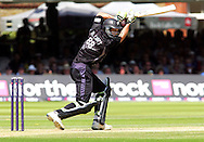 Photo © ANDREW FOSKER / SECONDS LEFT IMAGES 2008  - The unbeaten Grant Elliott drives a bundary for NZ  - England v New Zealand Black Caps - 5th ODI - Lord's Cricket Ground - 28/06/08 - London -  UK - All rights reserved