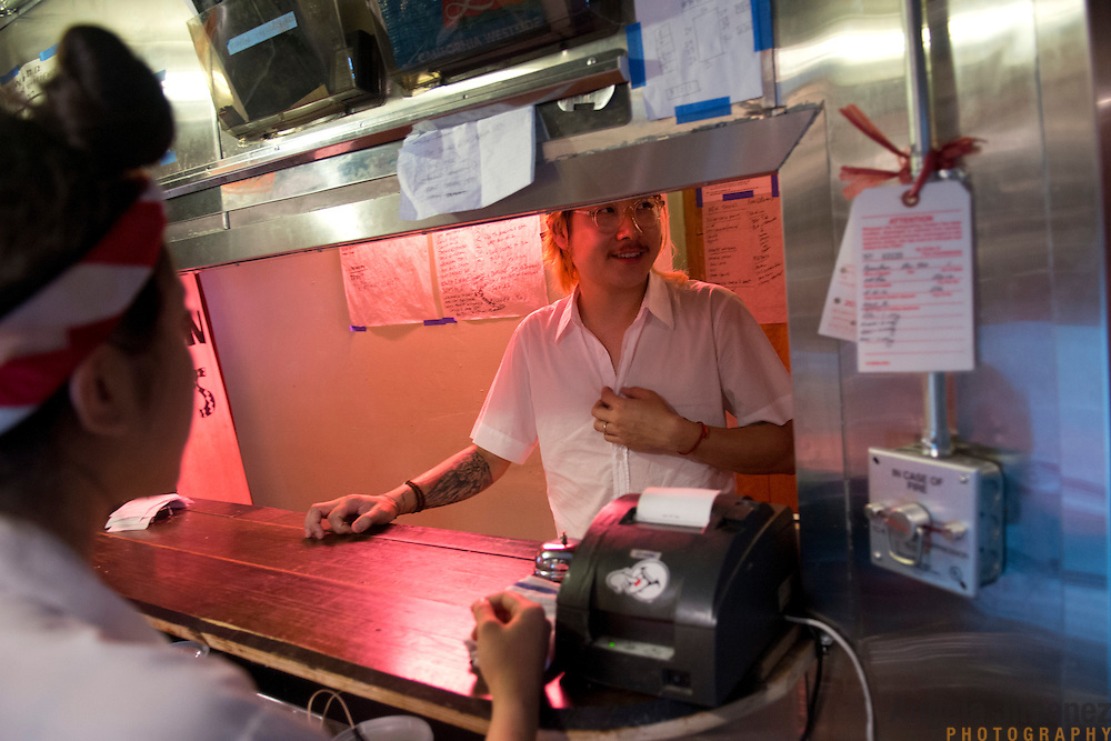 Chef Danny Bowien is photographed at his restaurant, Mission Chinese, at its New York City location on the Lower East Side of Manhattan on Tuesday, July 31, 2012 in New York, NY...