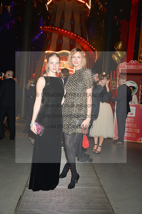 Left to right, PETRA PALUMBO and JACQUETTA WHEELER at 'The World's First Fabulous Fund Fair' in aid of the Naked Heart Foundation hosted by Natalia Vodianova and Karlie Kloss at The Roundhouse, Chalk Farm Road, London on 24th February 2015.