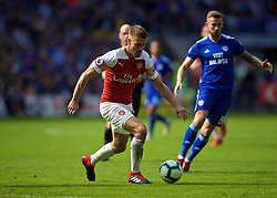 CARDIFF, WALES - Sunday, September 2, 2018: Arsenal's Aaron Ramsey during the FA Premier League match between Cardiff City FC and Arsenal FC at the Cardiff City Stadium. (Pic by David Rawcliffe/Propaganda)