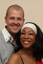 A couple Black woman and white man