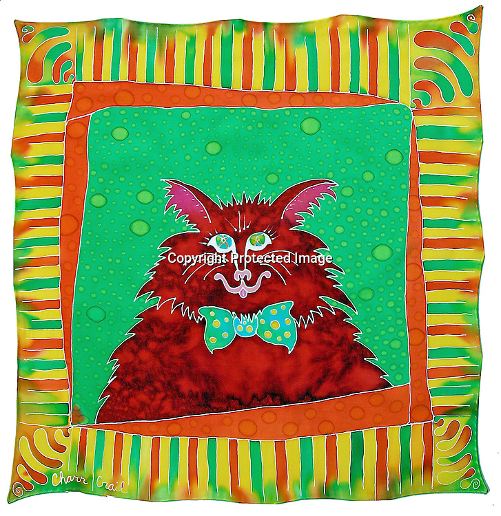 LINE ART silk painting..line art black and white cat abstract portrait illustration pop art bow tie feline pet anthro-morphized whiskers kitty bordered framed red green ..Charr Crail, 2011, All Rights Reserved.www.charrcrail.com.916-505-1154Charr Crail Fractals.Fractal art illustration kaleidascope pattern infinity mathematical..Photo/illustration by Charr Crail, 2011, All Rights Reserved.www.charrcrail.com.916-505-1154..