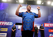 Daryl Gurney during the World Matchplay Darts 2019 at Winter Gardens, Blackpool, United Kingdom on 24 July 2019.