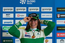 Katja Visnar of nordic team during Media day of Ski Association of Slovenia before new winter season 2014/15 on October 20, 2014 in Hisa Kulinarike Jezersek, Sora, Slovenia. (Photo by Matic Klansek Velej / Sportida)