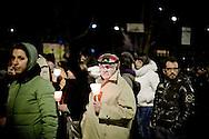 L'AQUILA. CITTADINI SFILANO CON LE FIACCOLE NELLE STRADE DEL CENTRO STORICO DELL'AQUILA IN OCCASIONE DELL'ANNIVERSARIO DEL SISMA IN ABRUZZO
