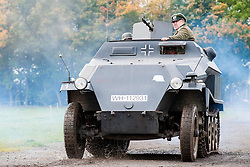 Panzer Grenadiers in a Sd.Kfz. 251 Auf C halftrck Hanomag of the Großdeutschland Panzer Grenadier Division at the Pickering Showground Day 2<br />