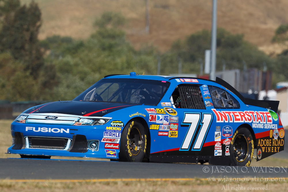 June 25, 2011; Sonoma, CA, USA;  Sprint Cup Series driver Andy Lally (71) during practice for the Toyota/Save Mart 350 at Infineon Raceway.
