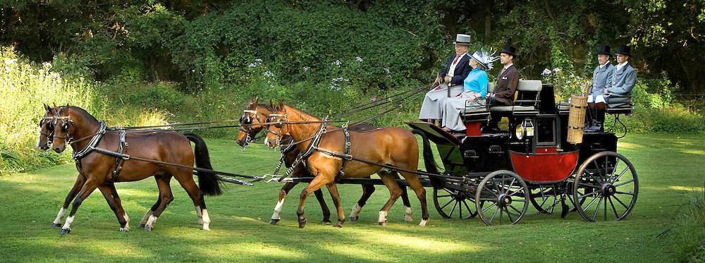 George Alexis (Frolic) Weymouth of Chadds Ford, PA, is an artist and Chairman of the Board of Trustees of the Brandywine Conservancy, an environmental and cultural organization that he helped found in 1967. He is seen here driving his coach. (Photograph by Jim Graham)