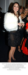 TAMARA MELLON owner of Jimmy Choo shoes at a reception in London on 14th October 2003.PNL 339