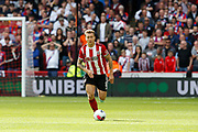 Luke Freeman of Sheffield United during the Premier League match between Sheffield United and Crystal Palace at Bramall Lane, Sheffield, England on 18 August 2019.