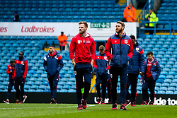 Tomas Kalas and Nathan Baker of Bristol City arrive at Elland Road for the Sky Bet Championship fixture against Leeds United - Mandatory by-line: Robbie Stephenson/JMP - 24/11/2018 - FOOTBALL - Elland Road - Leeds, England - Leeds United v Bristol City - Sky Bet Championship