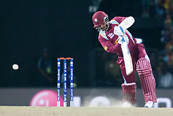 © Licensed to London News Pictures. 07/10/2012. West Indian Denesh Ramdin batting during the World T20 Cricket Mens Final match between Sri Lanka Vs West Indies at the R Premadasa International Cricket Stadium, Colombo. Photo credit : Asanka Brendon Ratnayake/LNP