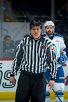 REGINA, SK - MAY 21: ice official at the Brandt Centre on May 21, 2018 in Regina, Canada. (Photo by Marissa Baecker/CHL Images)