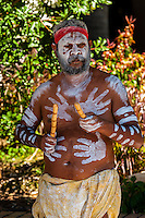An aboriginal man, Circular Quay, Sydney, New South Wales, Australia