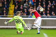 Manchester United midfielder Juan Mata (8) comes close in the second half during the Europa League match between Club Brugge and Manchester United at Jan Breydel Stadion, Brugge, Belguim on 20 February 2020.