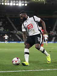 Darren Bent of Derby County in action - Mandatory by-line: Jack Phillips/JMP - 09/08/2016 - FOOTBALL - iPro Stadium - Derby, England - Derby County v Grimsby Town - EFL Cup First Round