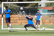 Forest Green Rovers goalkeeper Harry Pickering(24) during the Forest Green Rovers Training session at Browns Sport and Leisure Club, Vilamoura, Portugal on 24 July 2017. Photo by Shane Healey.