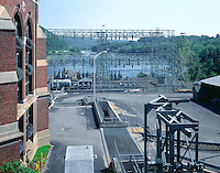 Power distribution grid at Bellows Falls, VT, dam on the Connecticut River.