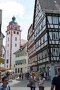 Altstadt mit Rathaus, Mosbach, Odenwald, Baden-Württemberg, Deutschland | Old town with town hall, Mosbach, Odenwald, Baden-Württemberg, Germany