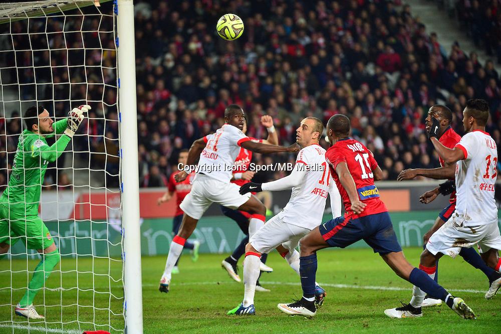 Djibril SIDIBE but refuse pour hors jeu  - 24.01.2015 - Lille / Monaco - 22eme journee de Ligue1<br />Photo : Dave Winter / Icon Sport