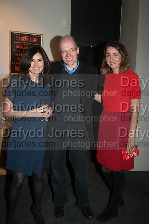ELEONORE DRESCH; ALAIN DE BOTTON; CHARLOTTE DE BOTTON, The Culture Whisper Launch party. Royal College of art. Royal College of Art, Kensington Gore. London. 28 January 2014