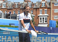 Tennis - 2017 Aegon Championships [Queen's Club Championship] - Day Two, Monday<br /> <br /> Men's Singles, Round of 32<br /> James Ward [GBR] vs. Julien Benneteau [France]<br /> <br /> Julien Benneteau after winning his match on Court 1<br /> <br /> COLORSPORT/ANDREW COWIE