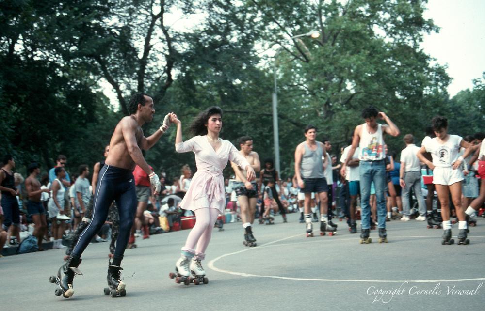Roller disco in Central Park