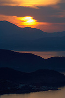 Sunset over Mochlos, northeast coast of Crete