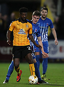 Medy Elito of Cambridge United and Kenton Richardson of Hartlepool United in action during the EFL Sky Bet League 2 match between Cambridge United and Hartlepool United at the Cambs Glass Stadium, Cambridge, England on 14 March 2017. Photo by Harry Hubbard.