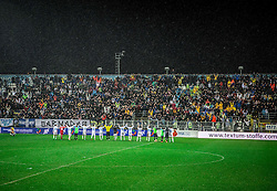 Players of Rijeka celebrate after the football match between HNK Rijeka and HNK Hajduk Split in Round #15 of 1st HNL League 2016/17, on November 5, 2016 in Rujevica stadium, Rijeka, Croatia. Photo by Vid Ponikvar / Sportida
