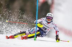 01.03.2020, Hannes Trinkl Weltcupstrecke, Hinterstoder, AUT, FIS Weltcup Ski Alpin, Alpine Kombination, Herren, Slalom, im Bild Jan Zabystran (CZE) // Jan Zabystran of Czech Republic in action during his Slalom run of men's Alpine combined of FIS ski alpine world cup at the Hannes Trinkl Weltcupstrecke in Hinterstoder, Austria on 2020/03/01. EXPA Pictures © 2020, PhotoCredit: EXPA/ Johann Groder